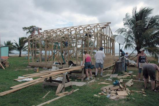 Craft Market being built in Belize